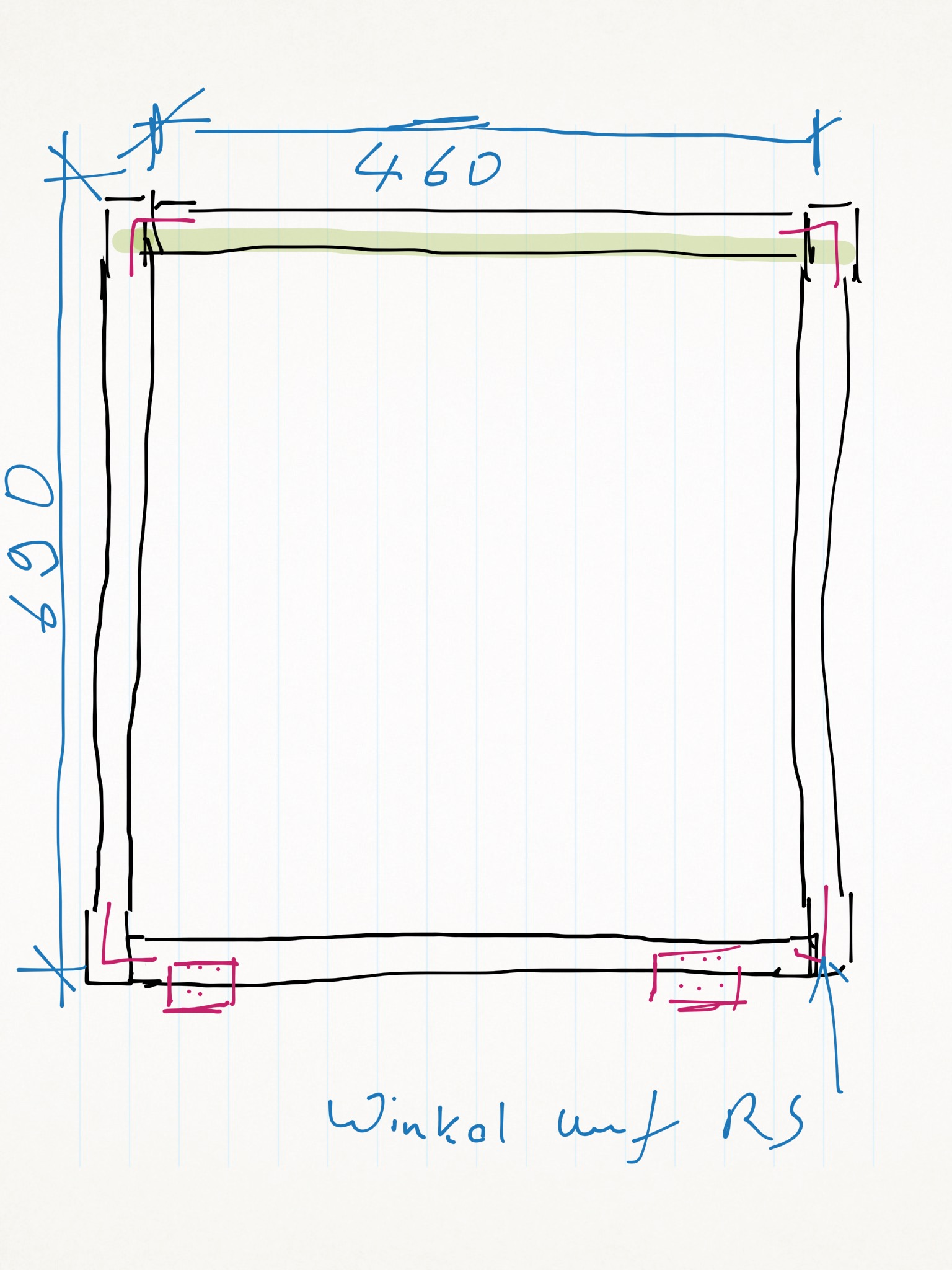 Abmessung einzelner Rahmen