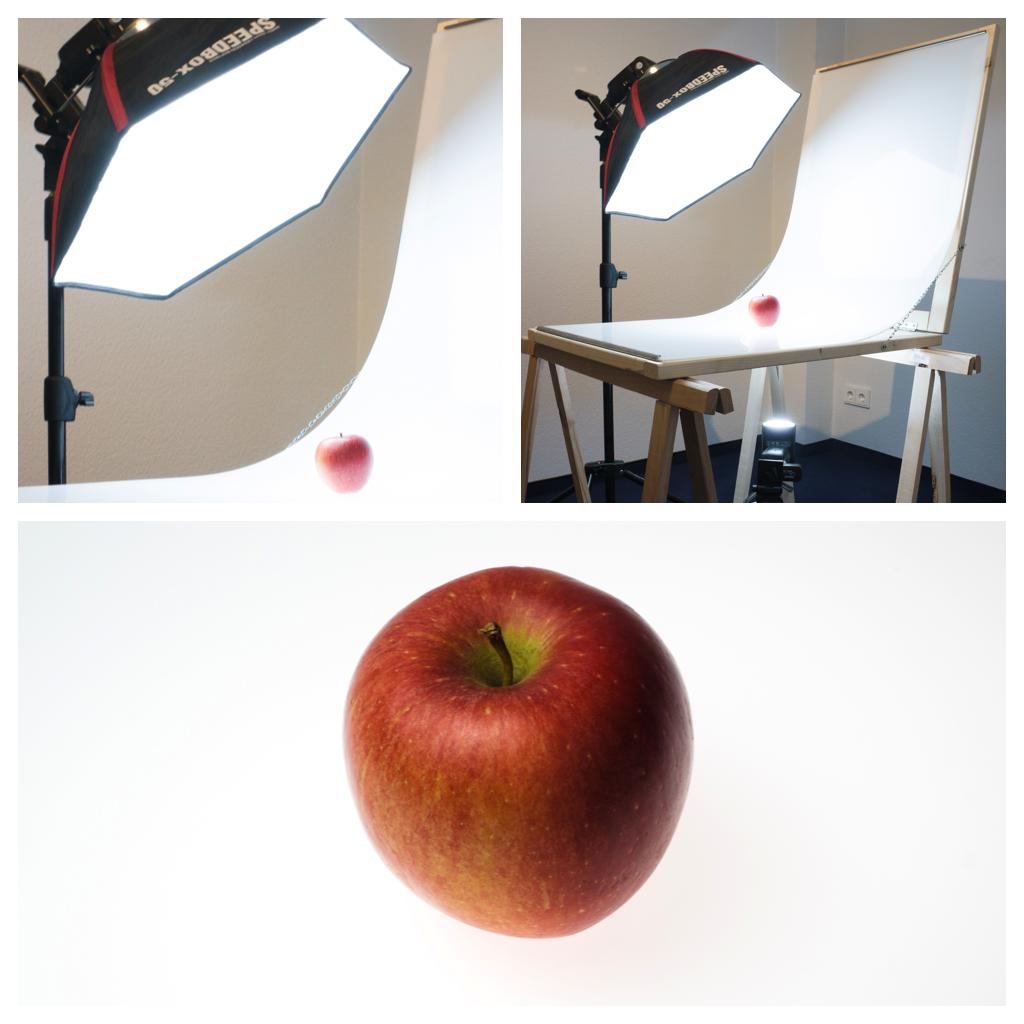 Apfel hinterleuchtet